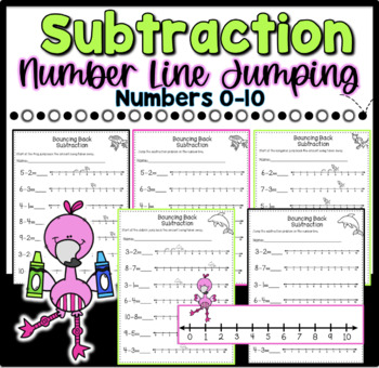 Subtraction Jumping the Number Line (Differentiated)