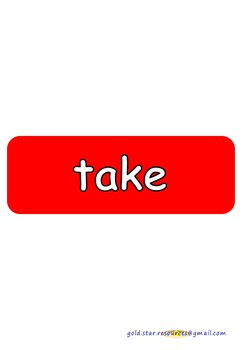Subtraction Keywords on Red Take Away Shapes for Display