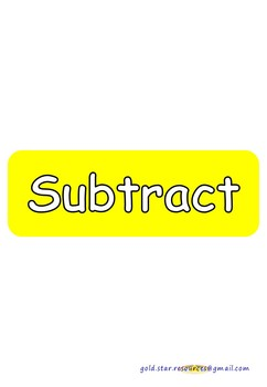 Subtraction Keywords on Yellow Take Away Shapes for Display