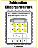 Subtraction Kindergarten Pack