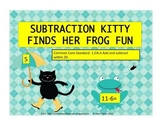 Subtraction Kitty Finds Her Frog Fun Math Game (Common Core Aligned)