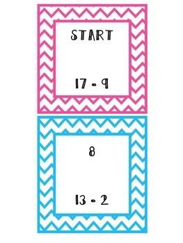 Subtraction Ladders (Facts to 20)