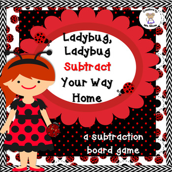 Math-Subtraction - Ladybug, Ladybug Subtract Your Way Home