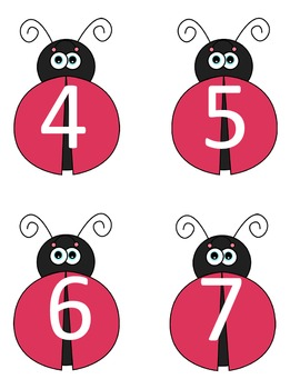 Subtraction Ladybugs within 10 Cake Walk Style Write the room 7 Games in ALL