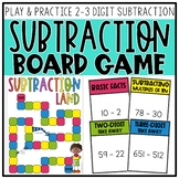 2-3 Digit Subtraction Board Game