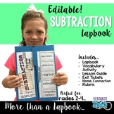 Subtraction Lapbook {EDITABLE}  Two & Three Digit Subtract