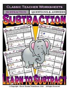 Subtraction - Learn to Subtract - Take Away - Kindergarten - Grade 1 (1st Grade)