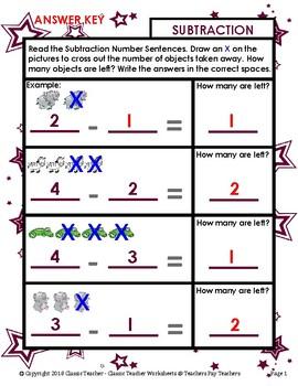 Subtraction - Learn to Subtract - Take Away - Kindergarten - Grade 1 (1st Grade)