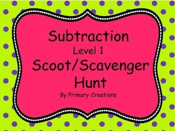 Subtraction Level 1 Scoot