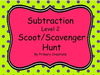 Subtraction Level 2 Scoot