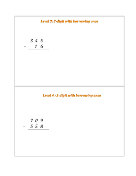 Subtraction Leveled Practice