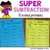 Subtraction Leveled Printables