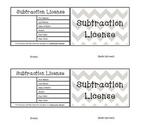 Subtraction License Reward