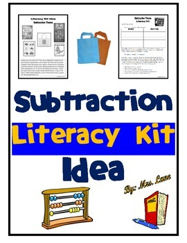 Subtraction Literacy Kit Idea