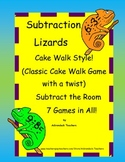 Subtraction Lizards within 10 Cake Walk Style Write the Room 7 Games in all