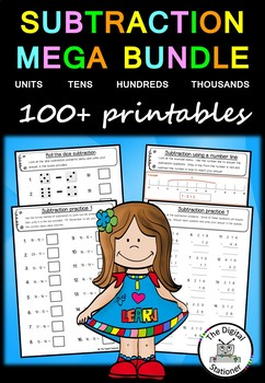 Subtraction MEGA Bundle – 100+ PRACTICE printables