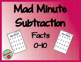 Subtraction Mad Minute: Facts 0-10