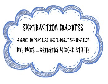 Subtraction Madness - Place Value, Subtraction, Multi-Digit Numbers