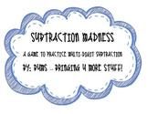 Subtraction Madness - Place Value, Subtraction, Multi-Digi