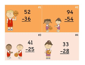 Subtraction Madness Scoot Game
