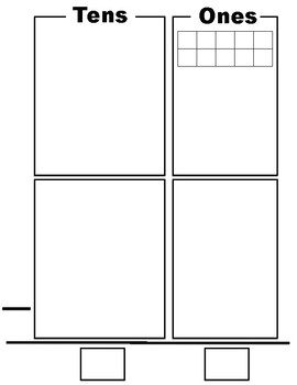 Subtraction Mat for Base Ten Blocks