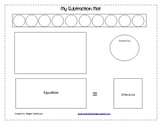 Subtraction Mat game with game cards-complete set