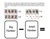Subtraction Mat using Playing Cards