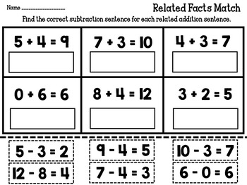 Subtraction Match Packet