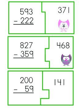 Subtraction Match-Up