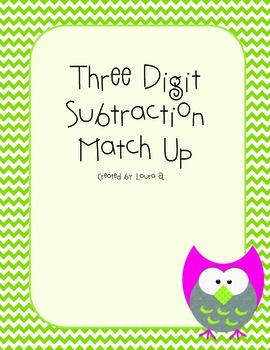 Subtraction Match-Up