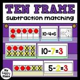Subtraction Match-Up: A Ten Frame Math Center