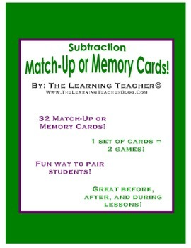 Subtraction Pairing Game!
