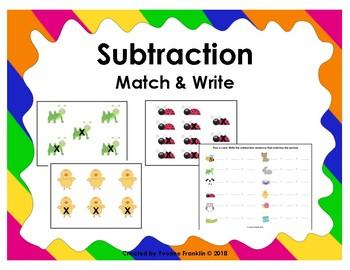 Subtraction Match & Write