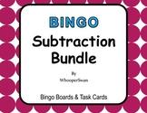 Subtraction - BINGO and Task Cards Bundle