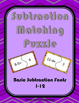 Subtraction Matching Puzzle!