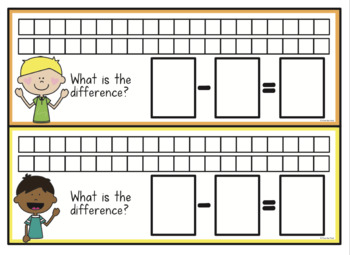 Subtraction Math Activity Pack - Comparison and Difference