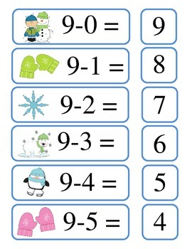 Subtraction Math Center