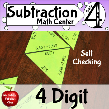Subtraction Math Center Four Digit