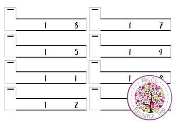 Subtraction Math Center Activity