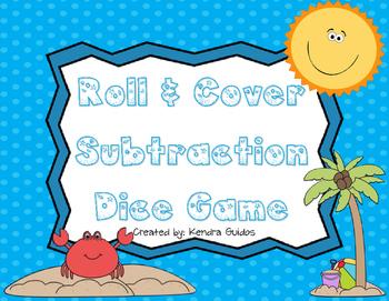 Subtraction Math Center Game {Summer Theme}