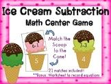 Subtraction Math Center for Kindergarten