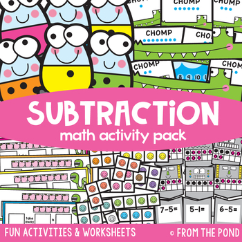 Subtraction Math Centers and Games Pack