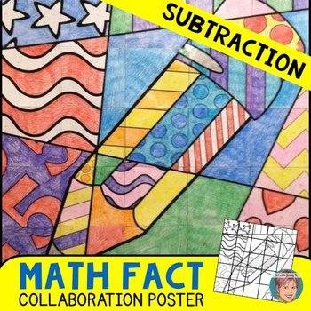 Back School Math Activity: Subtraction Collaboration Math Poster
