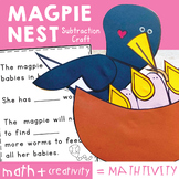 Subtraction Math Craft - Magpie Nest