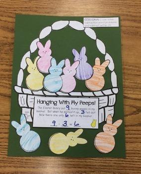 Spring Subtraction Math Craftivity