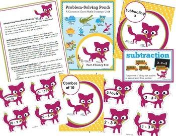 Subtraction Math Facts Essentials Bundle {Fiona Fact-Fluency Fox}