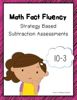 Subtraction Math Fact Fluency: Assessments