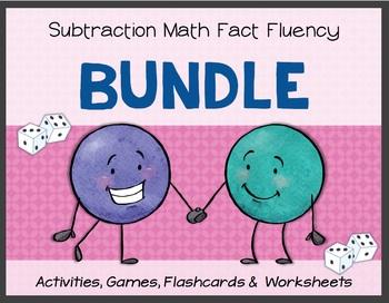 Subtraction Math Fact Fluency: BUNDLE