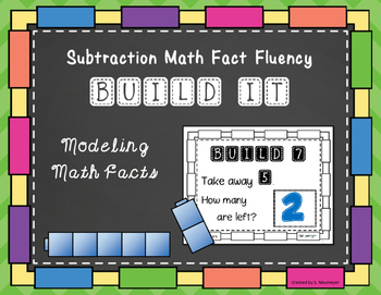 Subtraction Math Fact Fluency: Build It