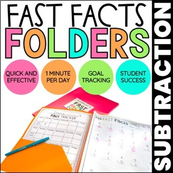 Subtraction Math Fact Fluency | Fast Facts Folders